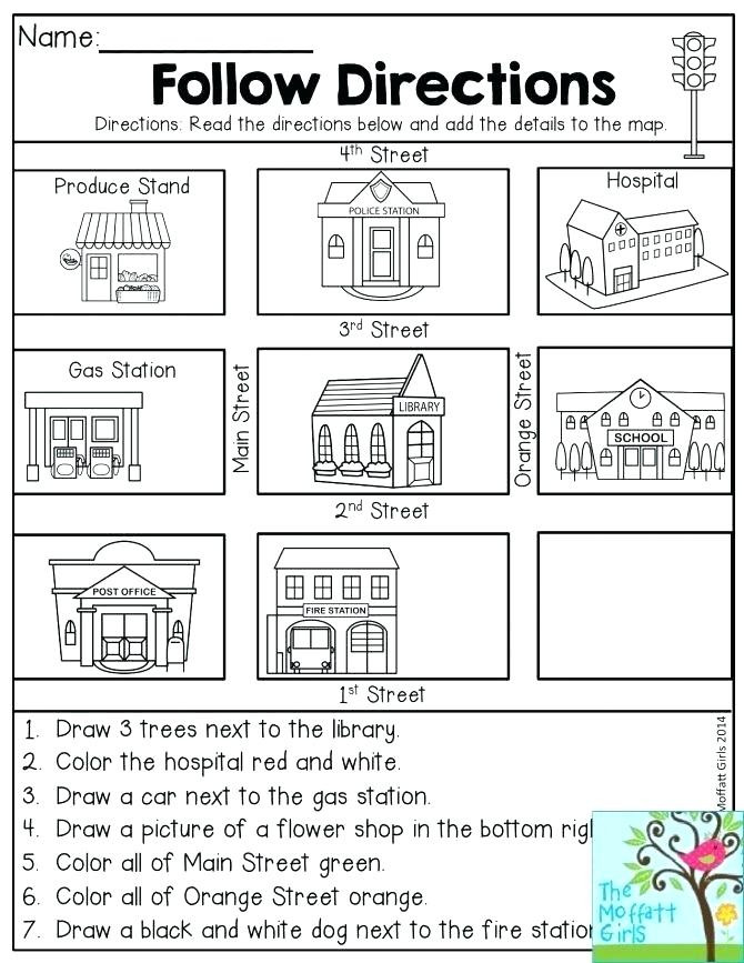 Following Directions Coloring Worksheet Coloring Worksheets for Kindergarten Pdf Hd Football
