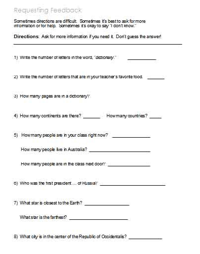 Following Directions Printables Following Directions – Worksheets Activities Goals and
