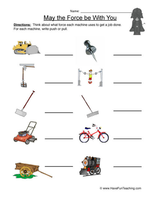 Force and Motion Printable Worksheets force and Motion Worksheets • Have Fun Teaching