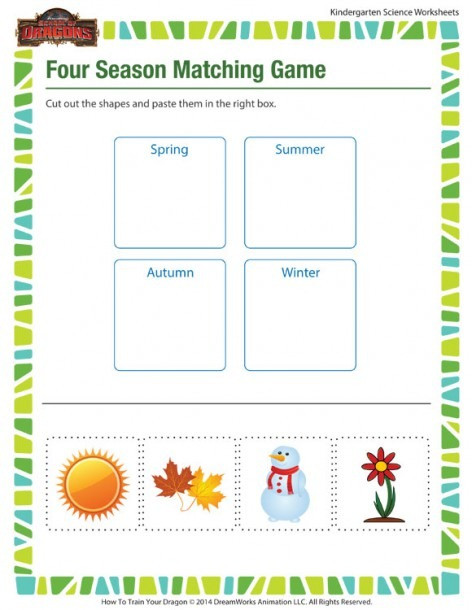 Four Seasons Kindergarten Worksheets Four Seasons for Kindergarten Printables