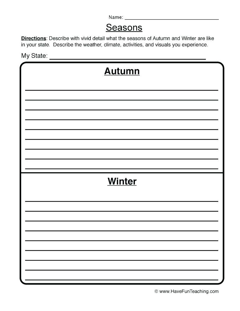 Four Seasons Kindergarten Worksheets Seasons Activities for Kindergarten An Apple Tree In 4