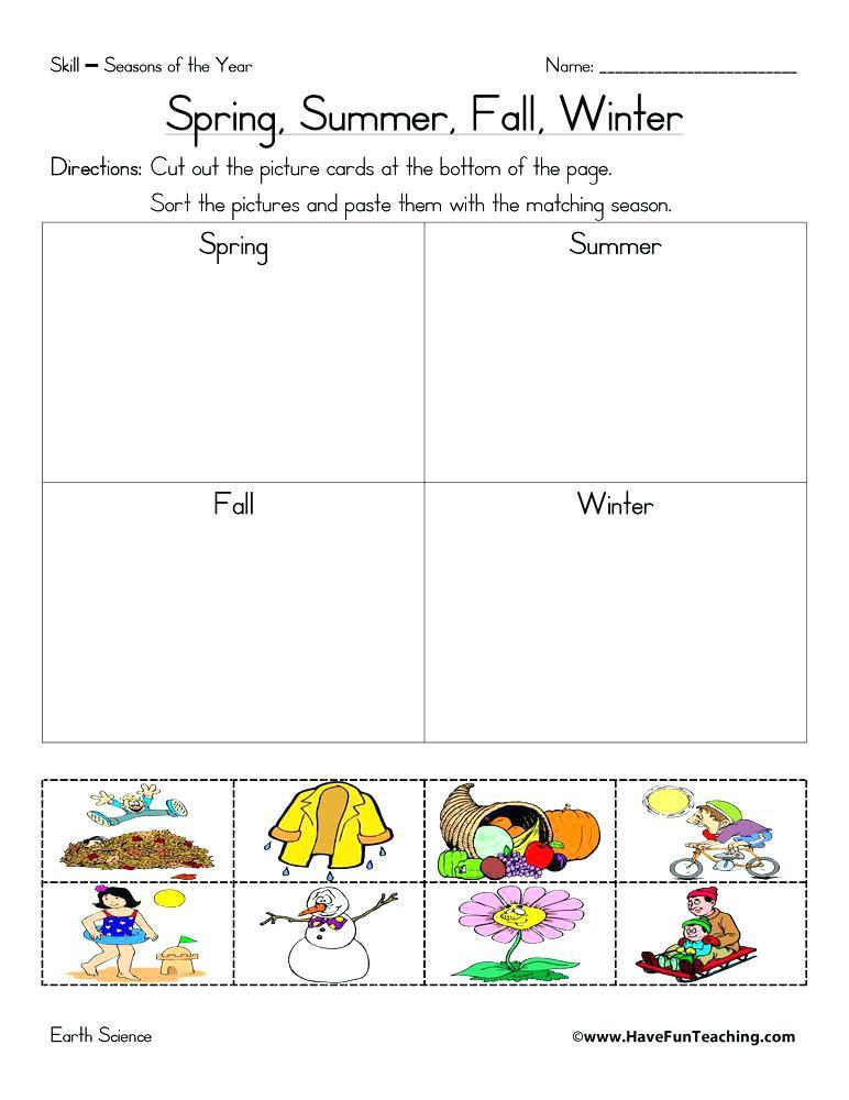 Four Seasons Kindergarten Worksheets Seasons for Kindergarten Best Seasons Worksheets