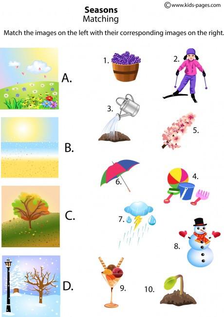 Four Seasons Kindergarten Worksheets Seasons Lessons Tes Teach