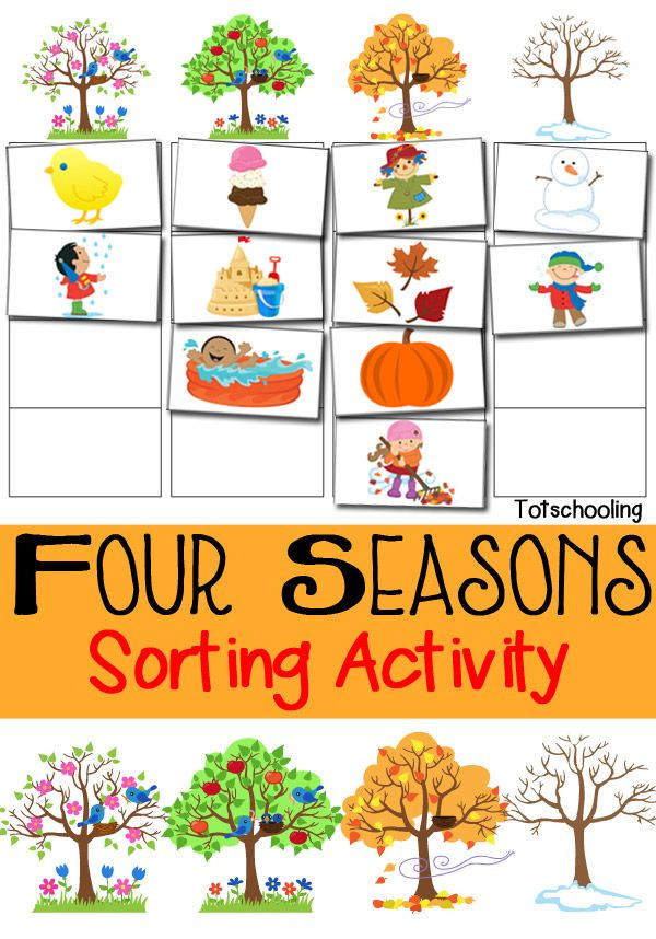 Four Seasons Kindergarten Worksheets Seasons Lessons Tes Teach