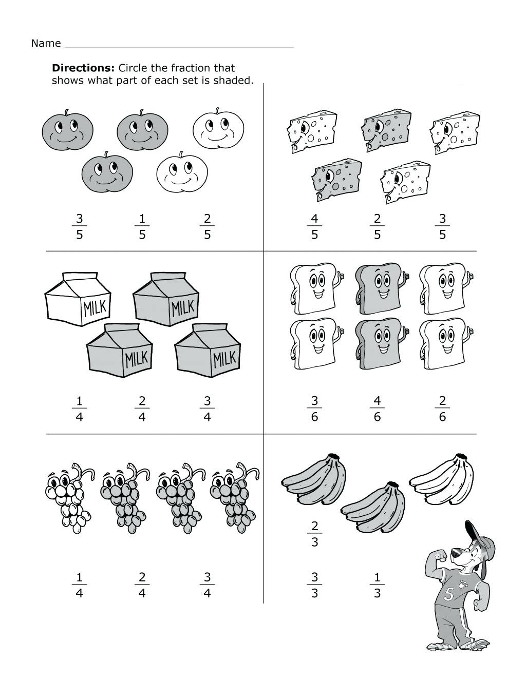Fractions Worksheets 2nd Grade 2nd Grade Math Worksheets Best Coloring Pages for Kids