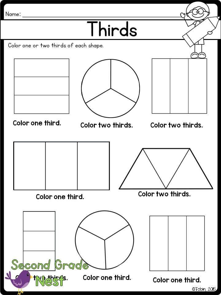 Fractions Worksheets 2nd Grade Fractions Printables