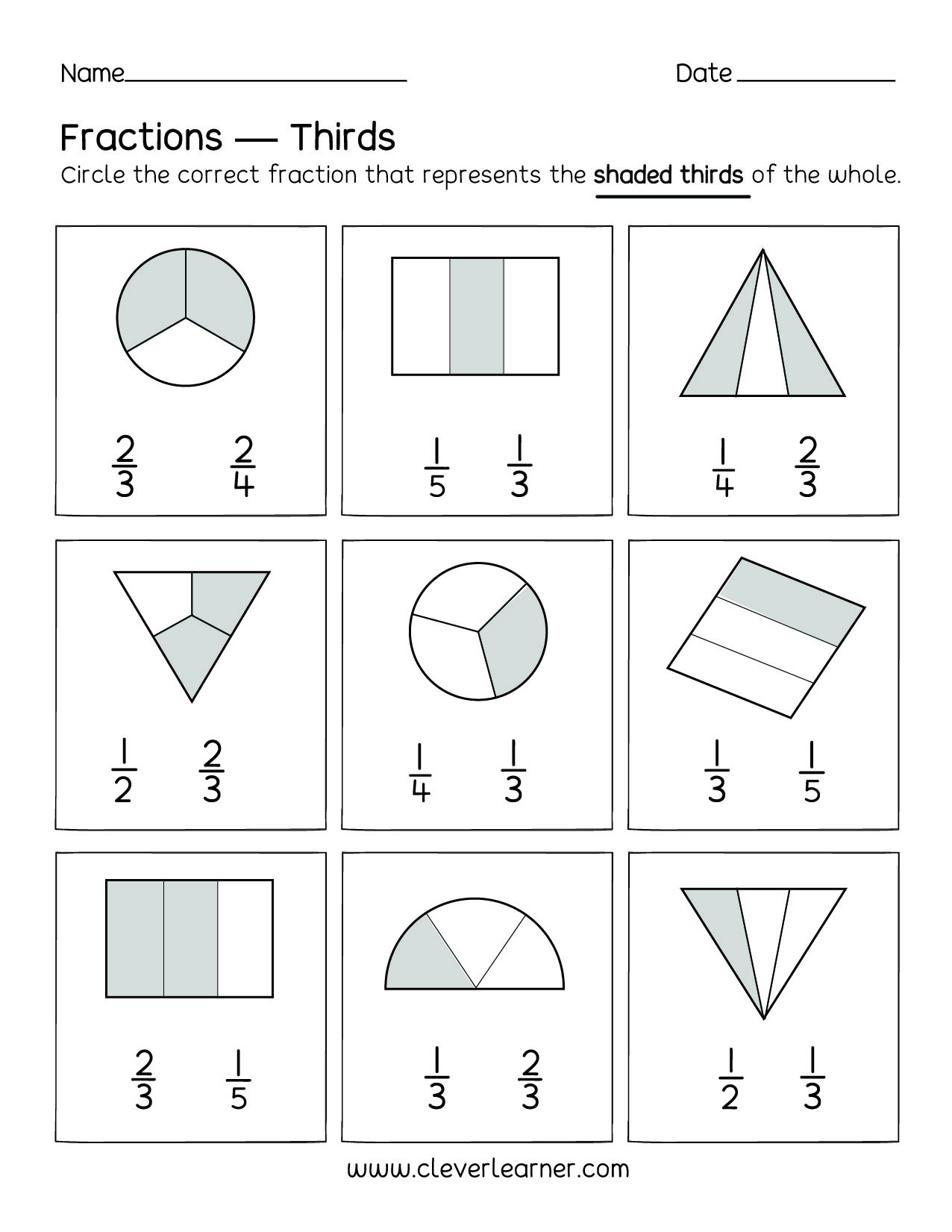 Fractions Worksheets First Grade Monthly Archives May 2020 Page 3 Indirect Object Worksheets