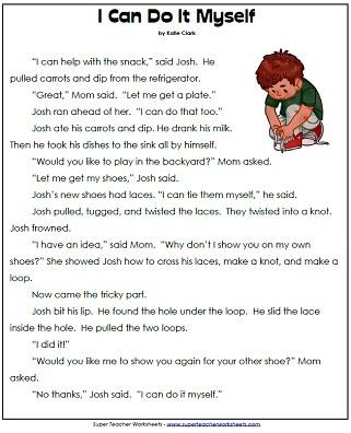 Free 1st Grade Comprehension Worksheets 1st Grade Reading Prehension Printables