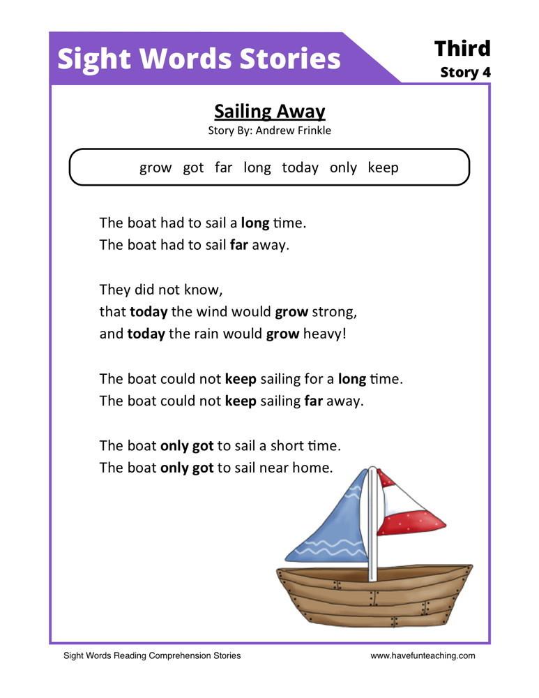 Free 1st Grade Comprehension Worksheets First Grade Reading Prehension Worksheets
