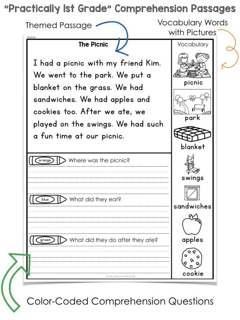 Free 1st Grade Comprehension Worksheets Free 1st Grade Reading Worksheets Pdf 1st Grade