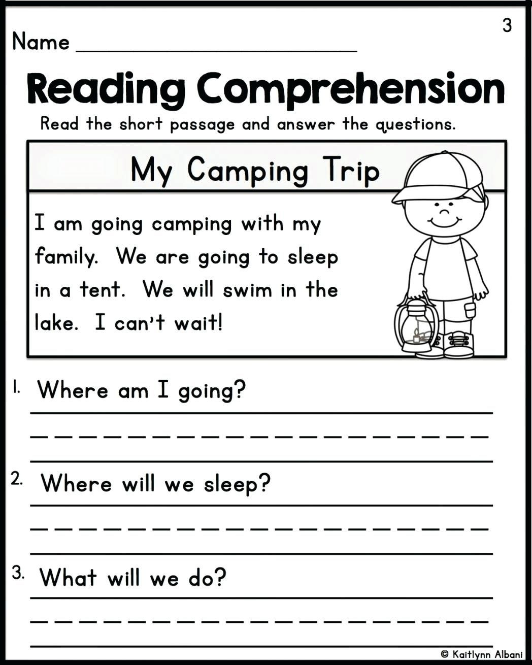 Free 1st Grade Comprehension Worksheets Pin On Teaching