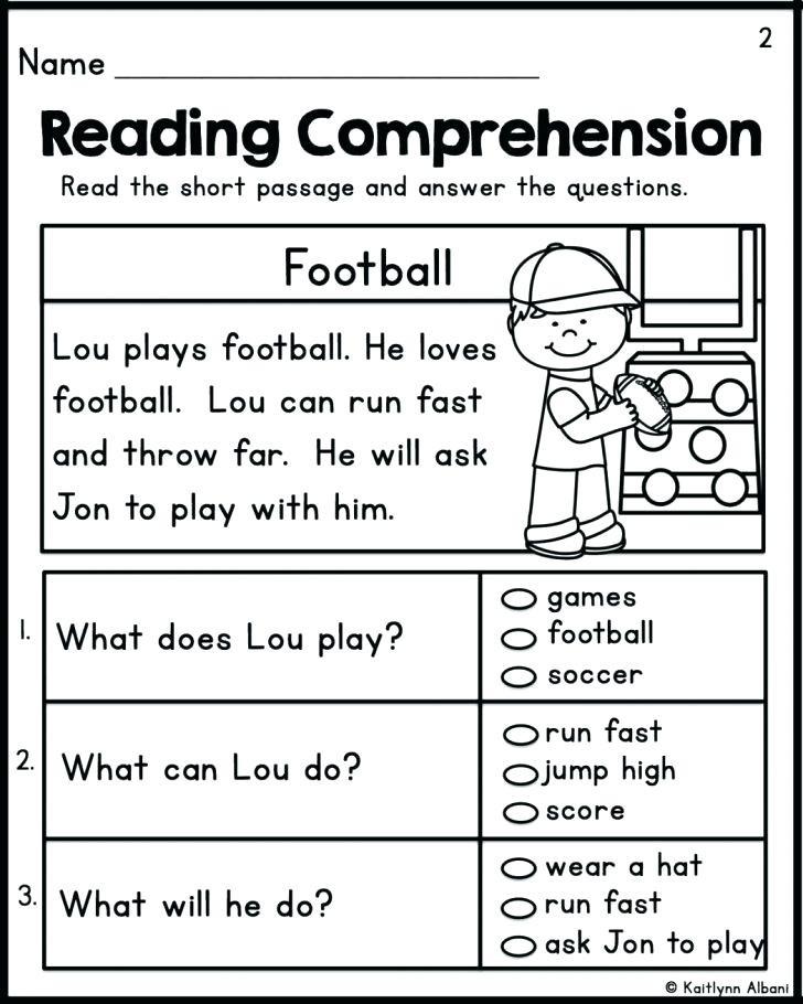 Free 1st Grade Comprehension Worksheets Worksheets for 1st Graders – Keepyourheadup
