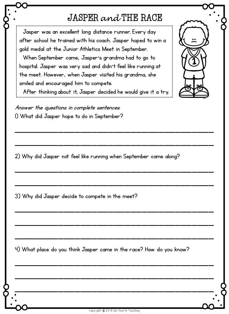 Free 2nd Grade Comprehension Worksheets 2nd Grade Reading Worksheets with Answer Key