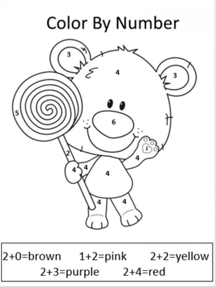 Free Addition Coloring Worksheets Worksheets Easter Math 1st Grade for Impressive Coloring