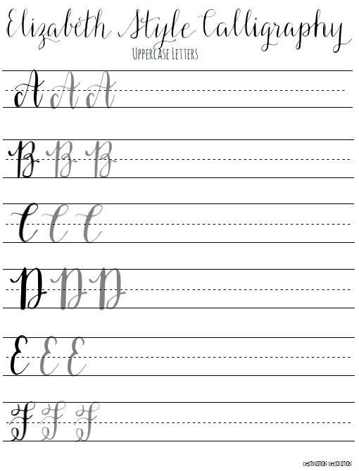 Free Calligraphy Worksheets Printable 28 [ Calligraphy Writing Worksheets ]