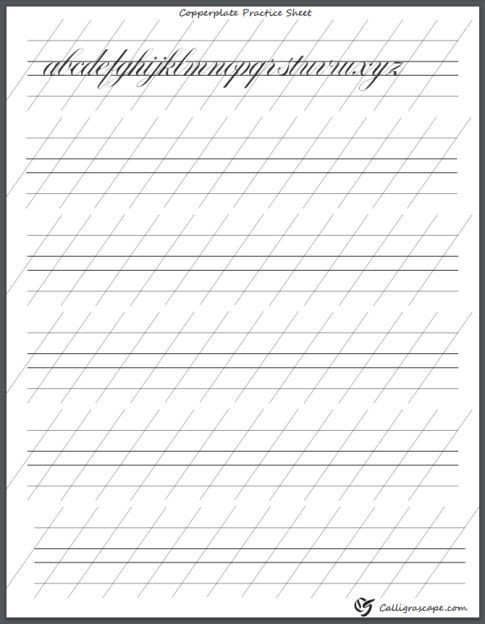 Free Calligraphy Worksheets Printable 4 Free Printable Calligraphy Practice Sheets Pdf Download