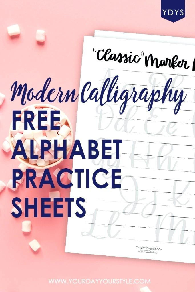 printable modern calligraphy alphabet practice sheets free worksheets