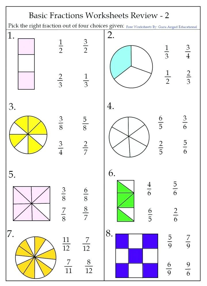 Free First Grade Fraction Worksheets 1st Grade Fractions Download Free Educational Worksheets