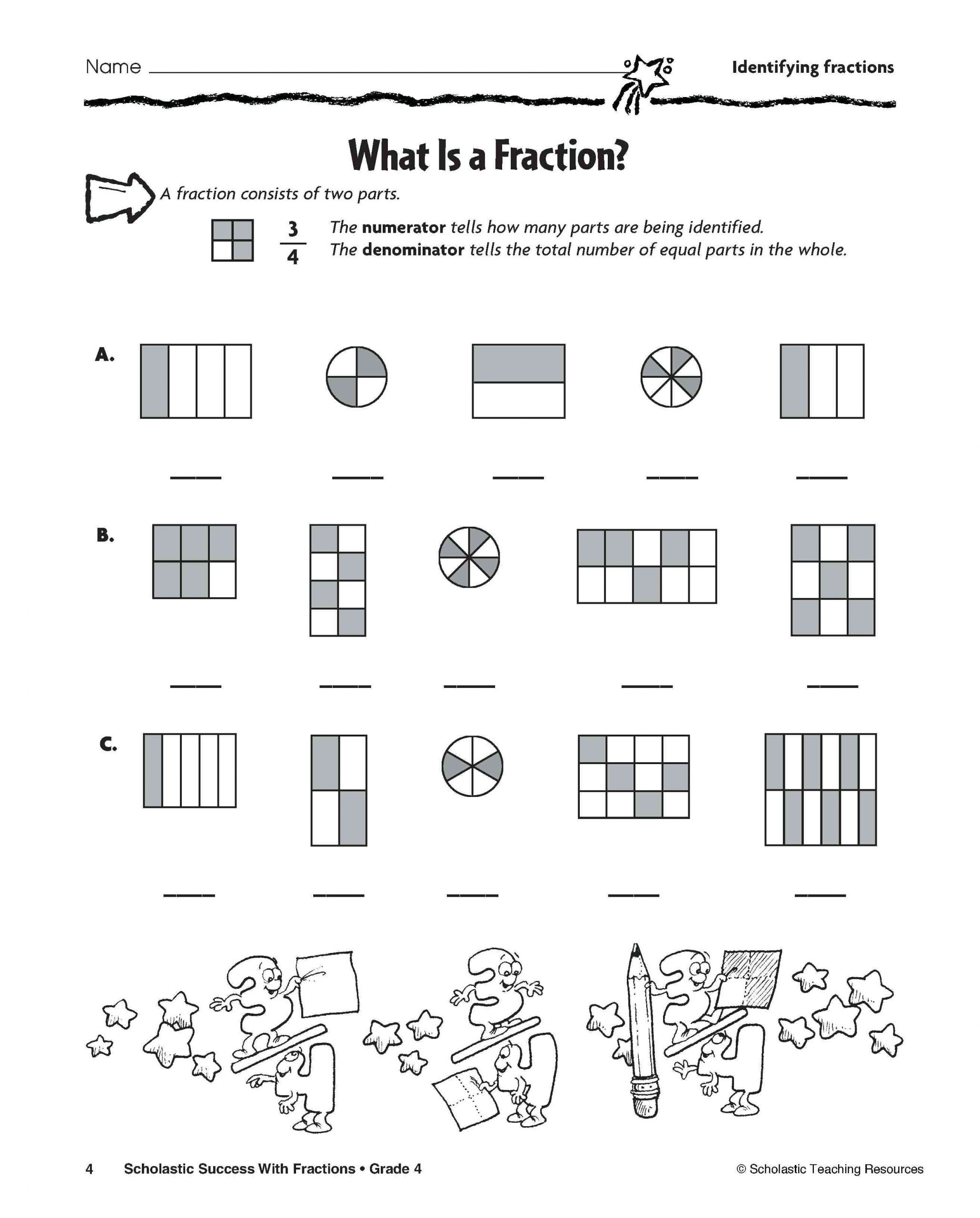 Free First Grade Fraction Worksheets 3 Free Math Worksheets Fourth Grade 4 Addition Adding