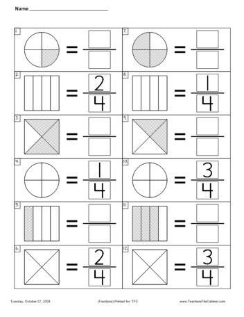 Free First Grade Fraction Worksheets First Grade Fractions Worksheets & February No Prep Packet