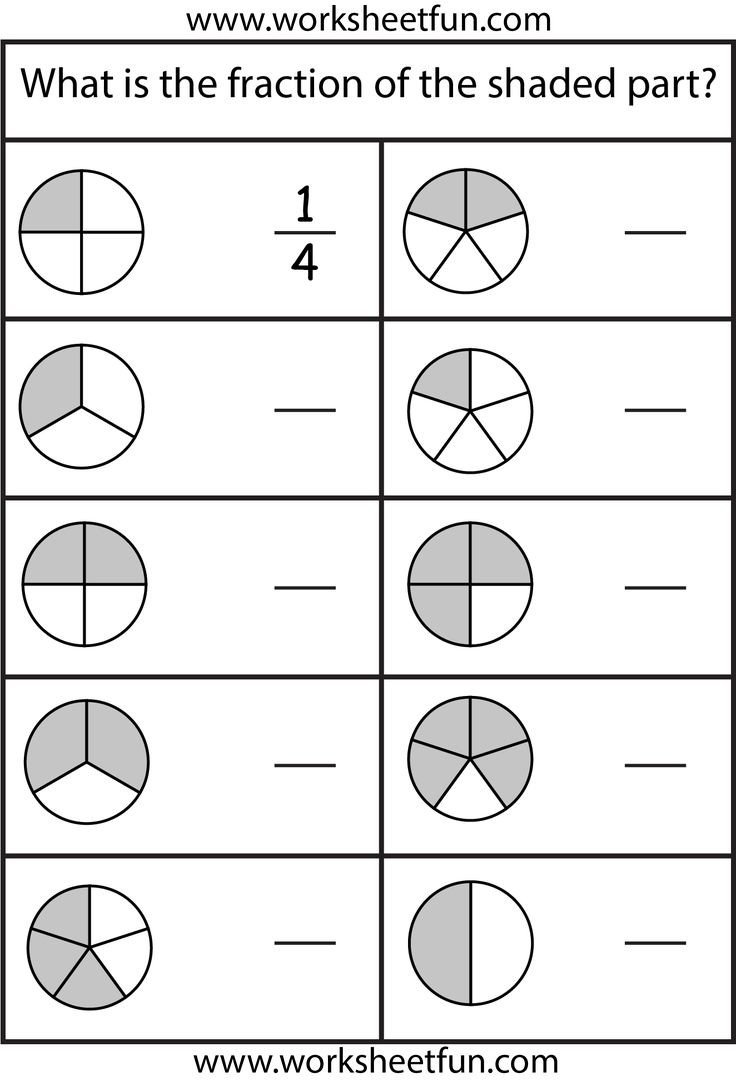 Free First Grade Fraction Worksheets Fraction Worksheets 1st Grade & February No Prep Packet 1st
