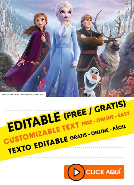 Free Frozen Invitations Printable 15] Free Frozen 2 Birthday Invitations for Edit Customize