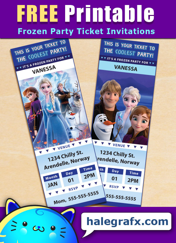 Free Frozen Invitations Printable Free Printable Frozen Ticket Party Invitations