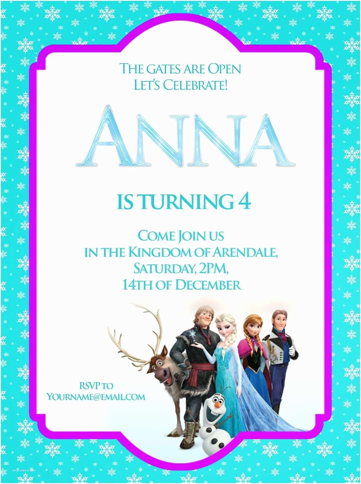 Free Frozen Invitations Printable Frozen Birthday Invitations Disney Frozen Birthday