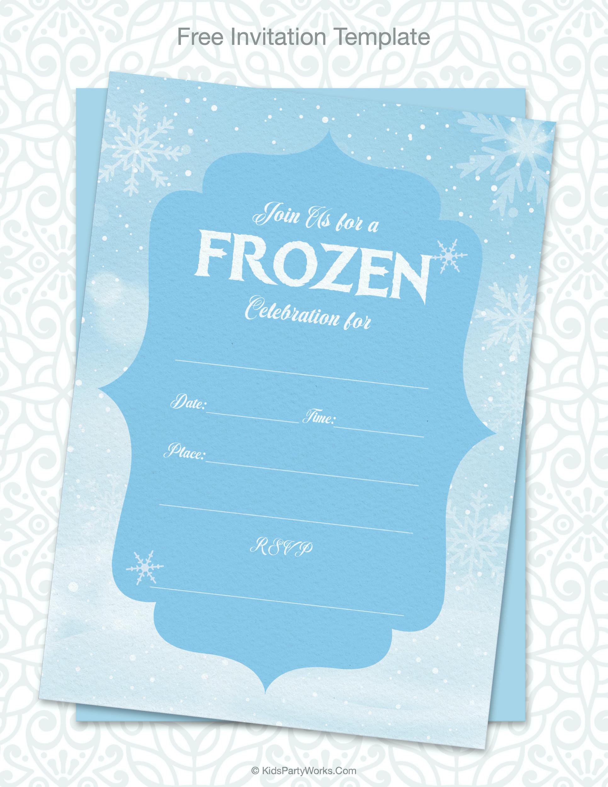 Free Frozen Invitations Printable Frozen Party