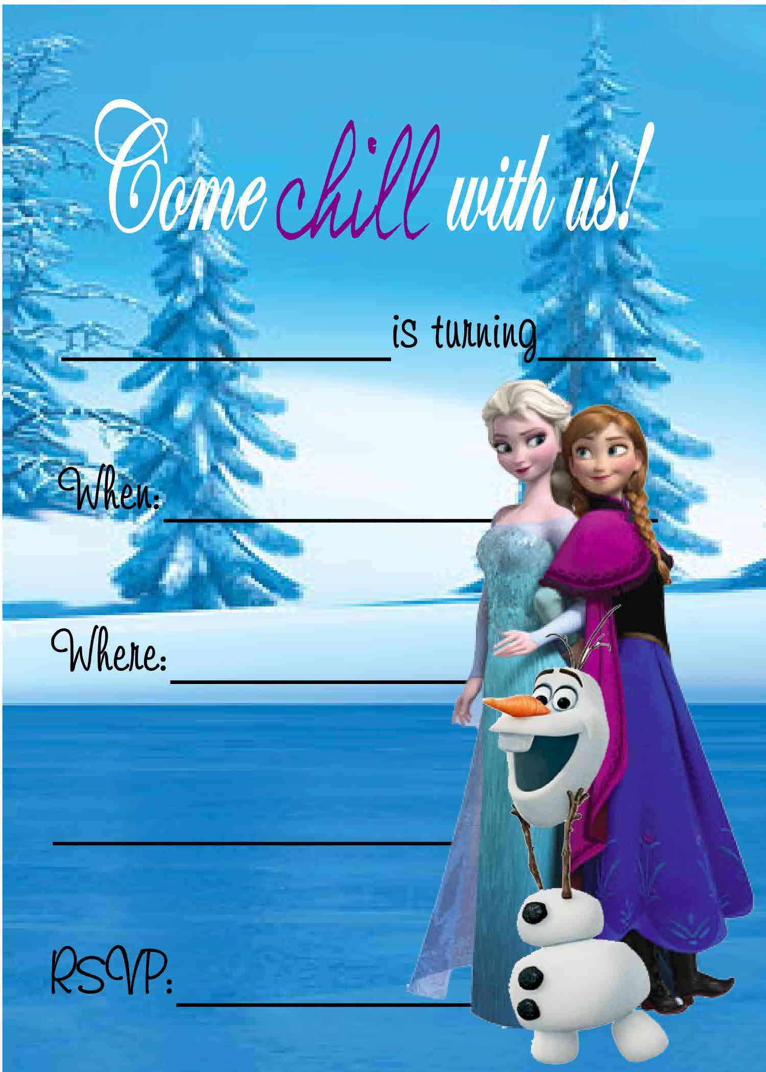 Free Frozen Invitations Printable Pin by Elizabeth Mathias On Mikayla