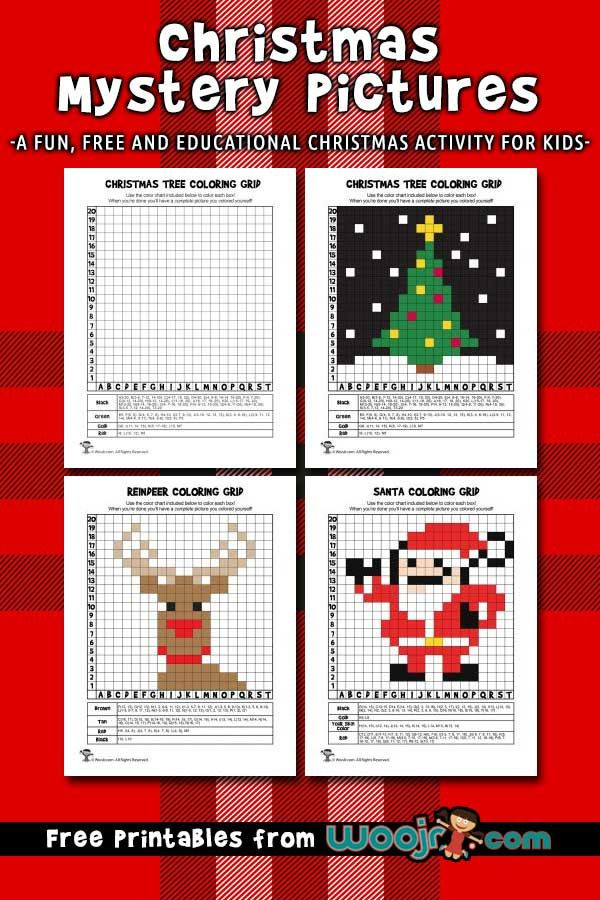 Free Grid Coloring Worksheets Christmas Mystery Grid Coloring Pages