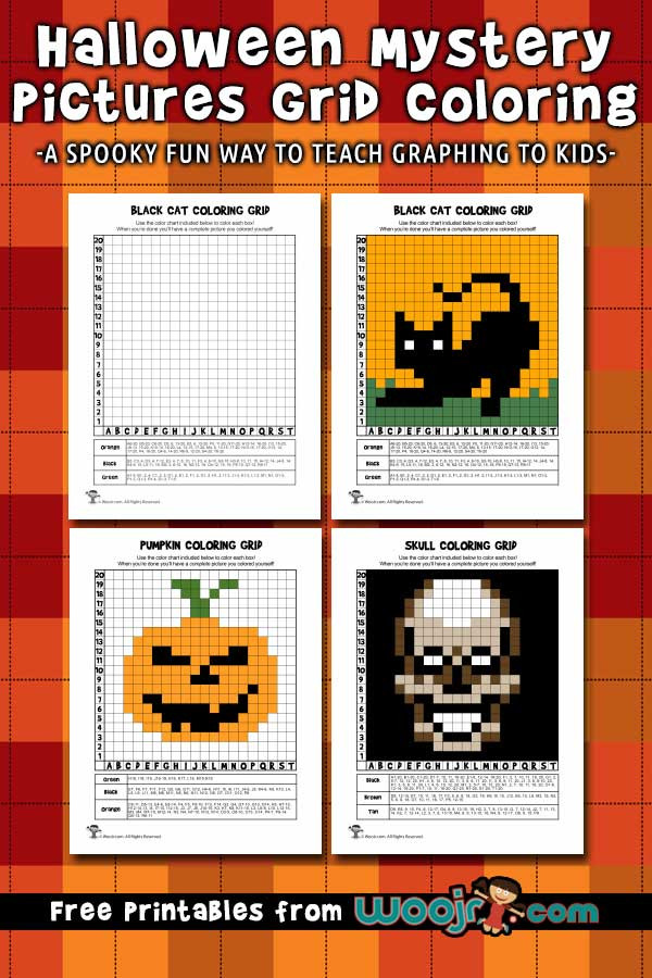Free Grid Coloring Worksheets Halloween Mystery Grid Coloring Pages