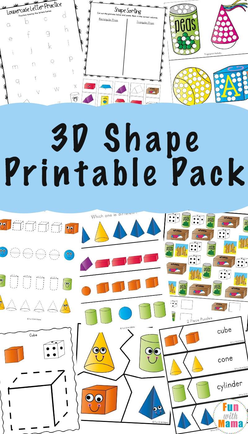 3D Shape Printable Pack
