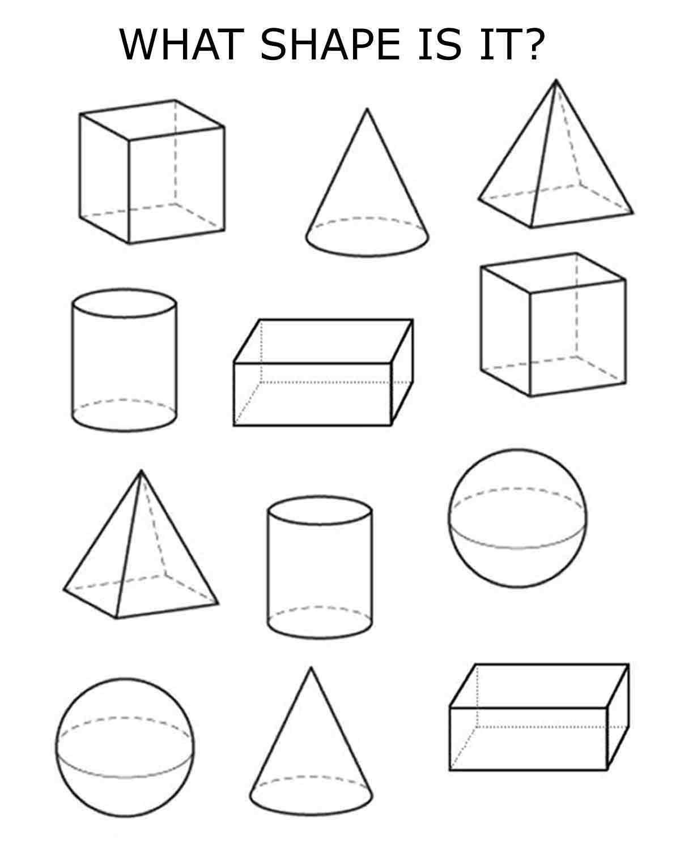 Free Printable 3d Shapes Worksheets 3d Shapes