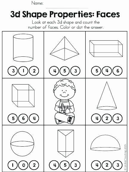 Free Printable 3d Shapes Worksheets 3d Shapes Worksheet Kindergarten Properties 3d Shapes