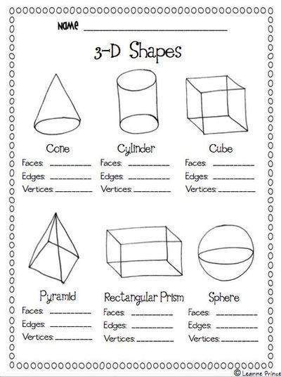 Free Printable 3d Shapes Worksheets 5 Best Of Printable 3d Shapes Kindergarten 3d