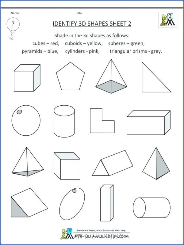 Free Printable 3d Shapes Worksheets Printable Shapes Worksheet Color by Shape Train Shapes