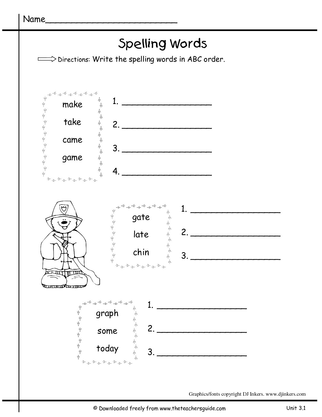 Free Printable Alphabetical order Worksheets 38 Alphabetical order Worksheets