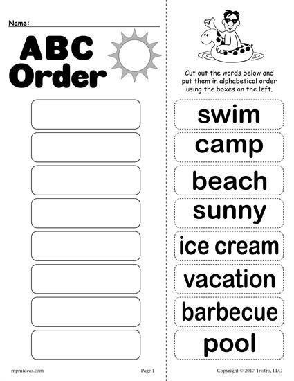 Free Printable Alphabetical order Worksheets Printable Abc order Worksheets
