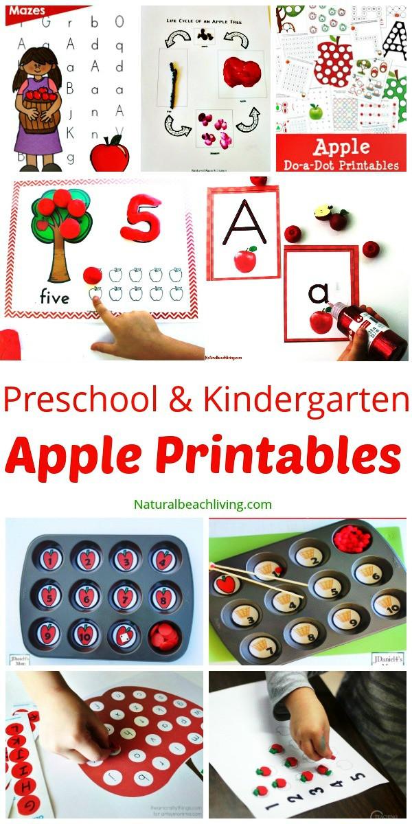 Free Printable Apple Worksheets 30 Free Apple Printables for Preschool and Kindergarten