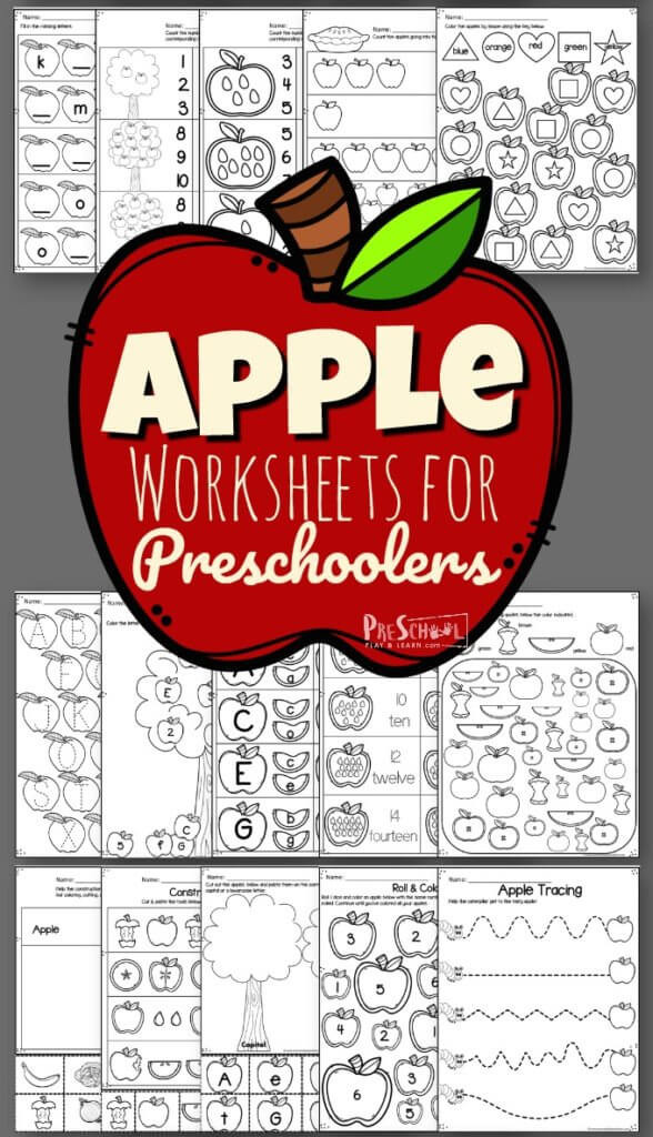 Free Printable Apple Worksheets Apple Worksheets for Preschoolers