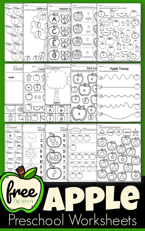 Free Printable Apple Worksheets Free Apple Worksheets Super Cute Free Printable Preschool