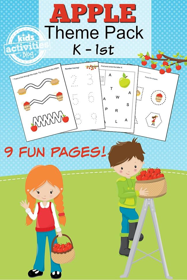 Free Printable Apple Worksheets Free Printable Apple Worksheet Set for Kindergarten 9 Pages