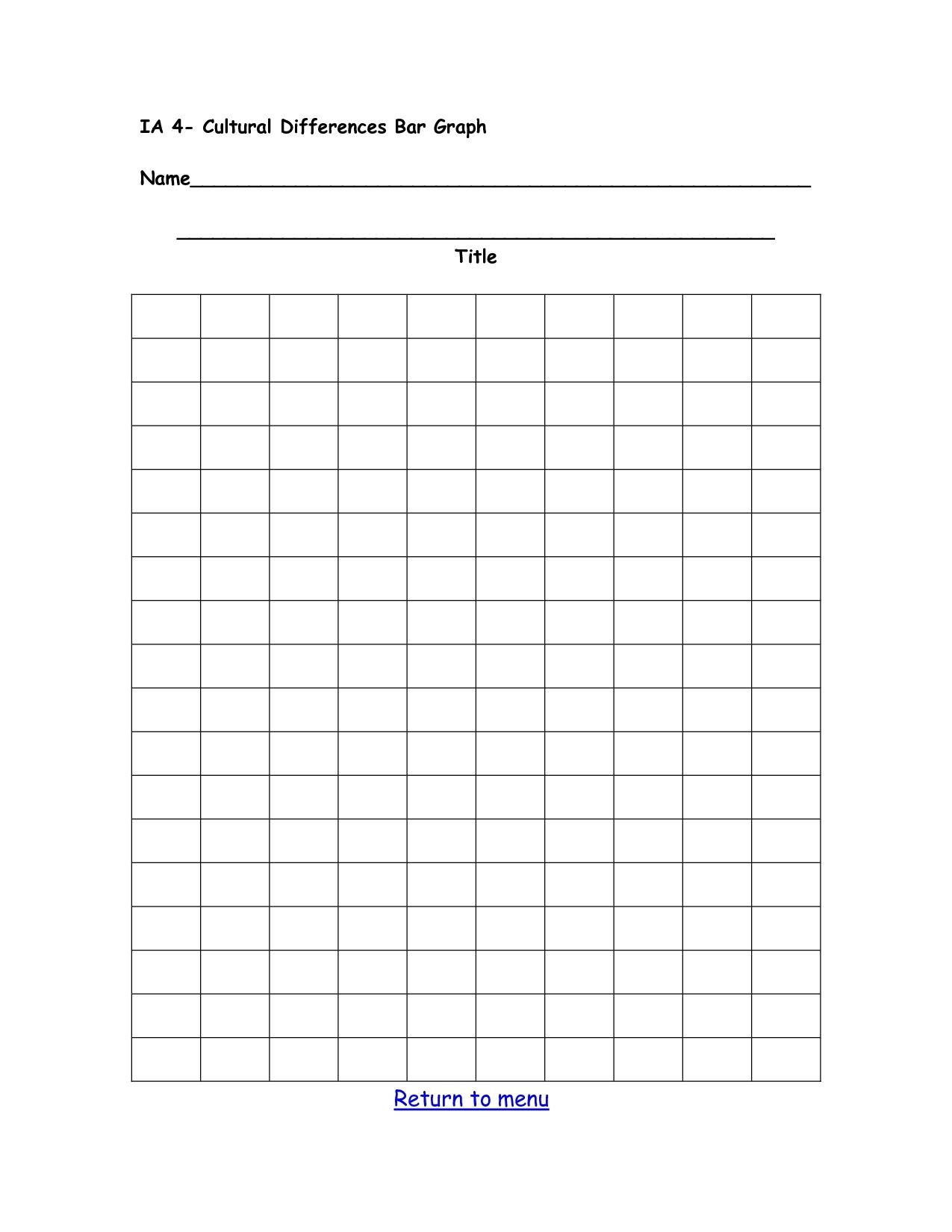 Free Printable Bar Graph Double Bar Graph Template