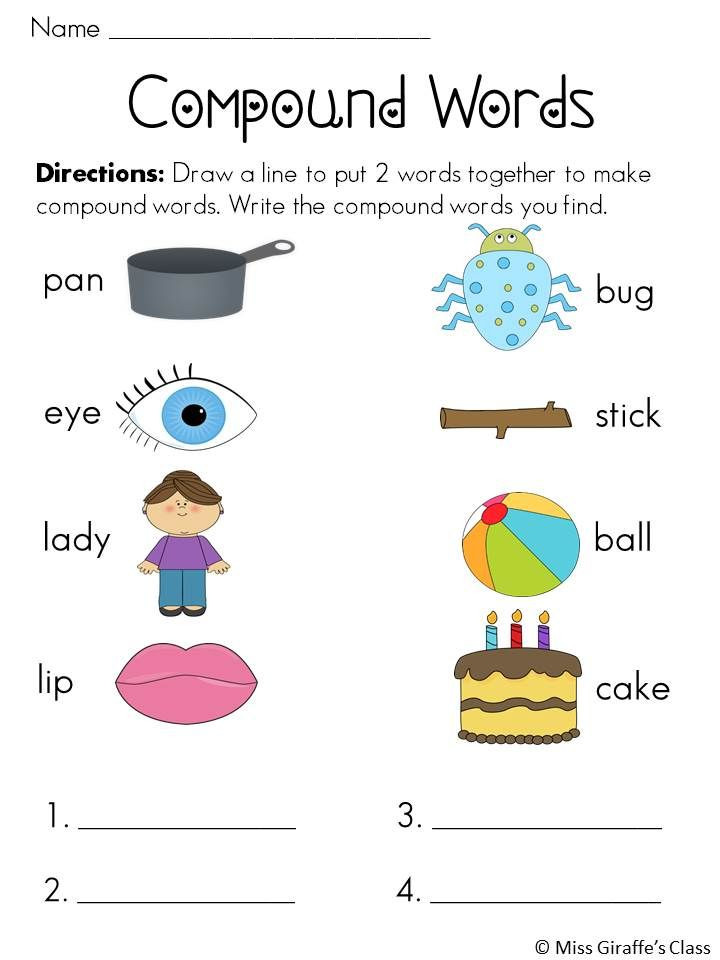 Free Printable Compound Word Worksheets Pound Words Worksheets and Activities Mega Pack