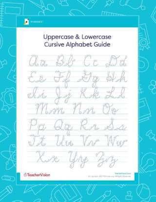 Free Printable Cursive Alphabet Chart Cursive Letters & Alphabet Printable