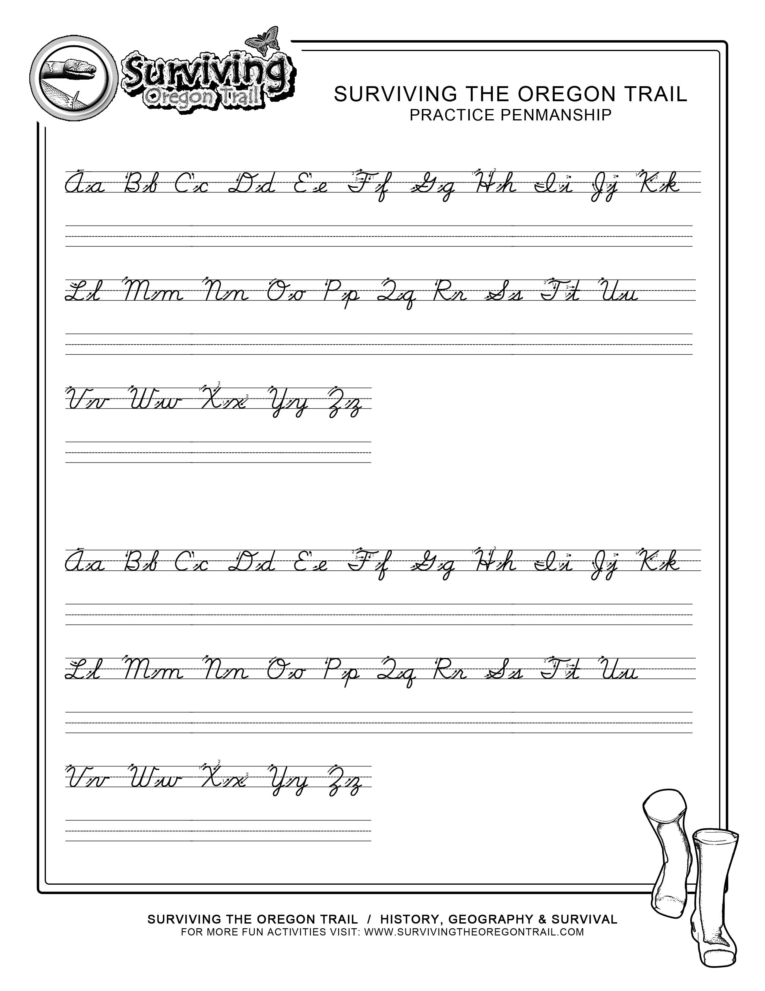 Free Printable Cursive Alphabet Chart for Cursive Writing Sentences Worksheetscursive