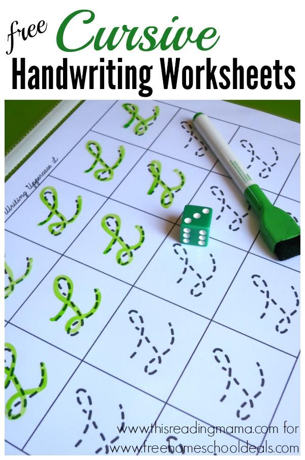 Free Printable Cursive Alphabet Chart Free Cursive Handwriting Worksheets Instant