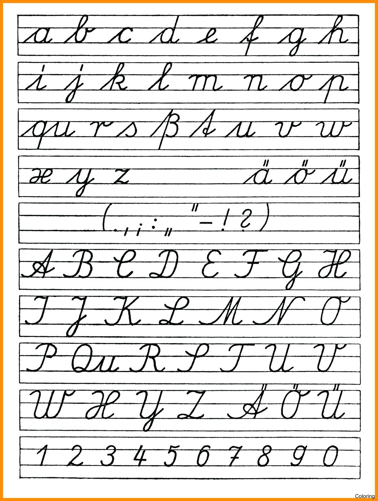 Free Printable Cursive Alphabet Chart Free Printable Abc Cursive Tracing Worksheets