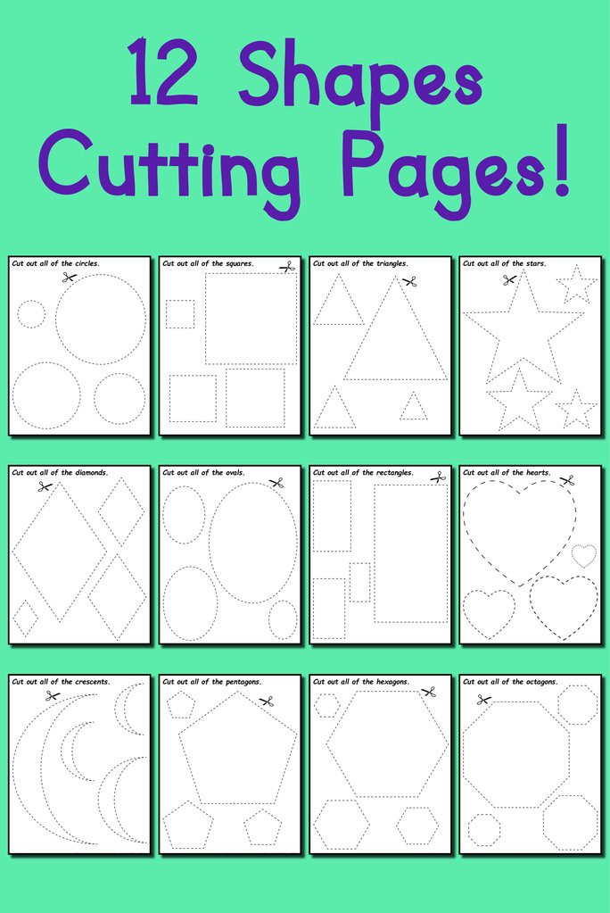 Free Printable Cutting Worksheets 12 Printable Shapes Cutting Worksheets